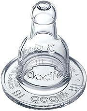 Dodie-Tétine Mon biberon 3 vitesses col étroit +6 mois silicone débit 3 spéciale liquide épais