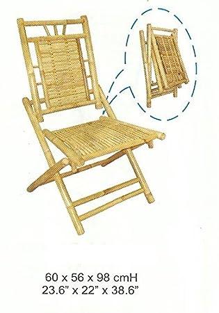 Kien Chaise Bambou De Jardin Pliante Balcon