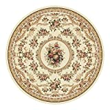 Home Dynamix Optimum 11012-100 Polypropylene 7-Feet 10-Inch by 7-Feet 10-Inch Round Area Rug, Ivory