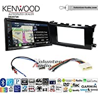 Volunteer Audio Kenwood DNX574S Double Din Radio Install Kit with GPS Navigation Apple CarPlay Android Auto Fits 2013-2015 Nissan Altima