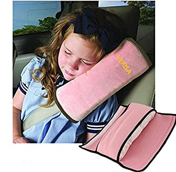 Safety Strap Micro Suede Fabric Car Seat Belts Pillow Head Shoulder Protection