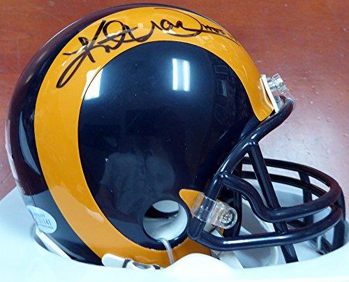 Kurt Warner Autographed St. Louis Rams Mini Helmet Beckett (Louis Rams Autographed Mini Helmet)