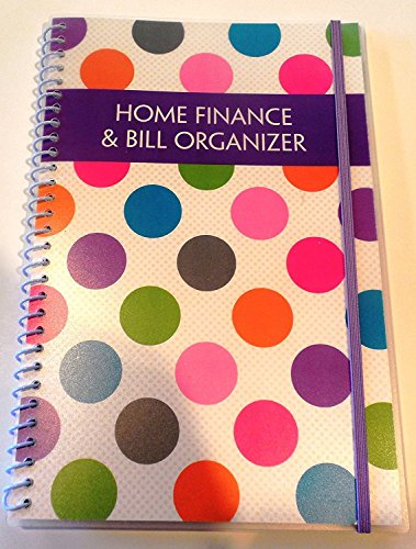 Home Finance & Bill Organizer with Pockets (Polka Dots) (Monthly Pocket Chart)