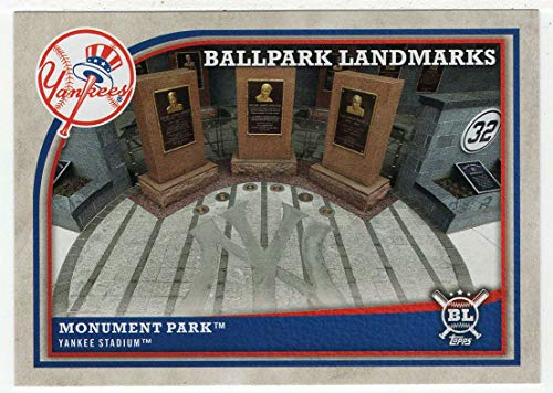 - Ballpark Landmarks - New York Yankees Monument Park (Baseball Card) 2018 Topps Big League # 365 NM/MT