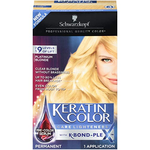 - Schwarzkopf Keratin Color Care Lighteners Permanent Hair Color Cream, Platinum Blonde (Pack of 12)