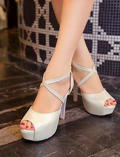 ShangYi Womens Shoes Chunky Heel Platform/Open Toe Peep Toe Sandals Party & Evening/Dress Pink/Gold/Beige golden