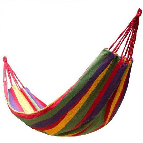 Outdoor Camping Hiking Leisure Canvas Single Hammock-110.2