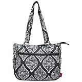 Ngil Quilted Cotton Shoulder Bag (Marquise In Bloom Grey)