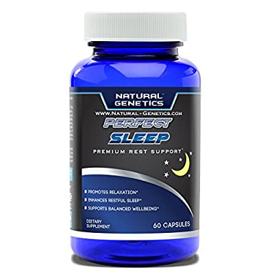 Best Natural Sleep Aid, PERFECT SLEEP- Assist in Relaxation, Restful Sleep, Full Night Sleep. Made with Valerian, Chamomile, Passion Flower, GABA, Melatonin and More. 60 Servings Supplement Pills