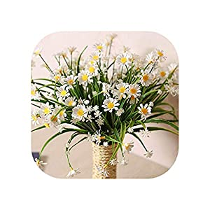 Sweet*love Daisy Artificial Flowers Outdoor Uv Resistant Fake Plant Windowbox Greenery Plastic Bushes Indoor Wedding Balcony Decoration 28