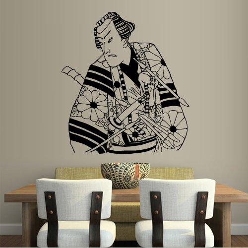 Wall Decal Art Decor Decals Sticker China Japan Samurai Sword Fighter Warrior Knight -