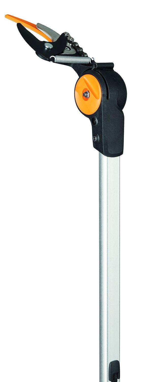 Fiskars Pértiga telescópica con cuchilla Bypass, Longitud ajustable: 2, 4 - 4 m, Negro/Naranja, 1023624: Amazon.es: Jardín