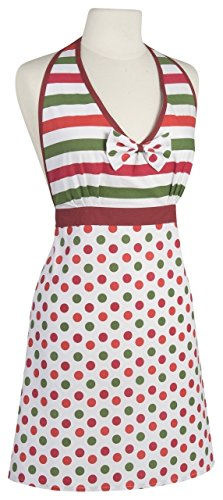 Amelia Apron Dotty Holiday (Flirtatious Stripe)