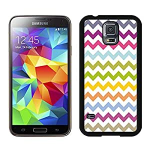 Coolest Samsung Galaxy S5 Case Multi Grunge Chevron Pattern Wave Soft TPU Black Phone Cover protector by runtopwell