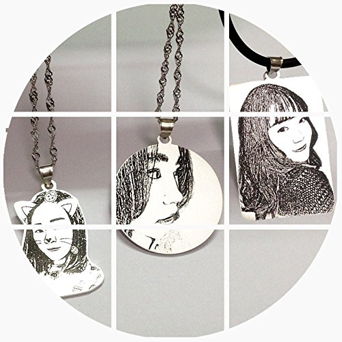 Generic Custom_photo_ Silver necklace Pendant _Ms._ man boy couple _iux people_ 925 gift lettering simple necklace Pendant s_ clavicle chain accessories by Generic