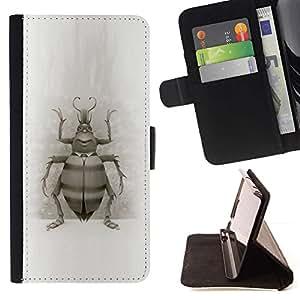 Momo Phone Case / Flip Funda de Cuero Case Cover - Beetle Bug Dibujo Alas Naturaleza Piernas Arte - Sony Xperia Z1 L39