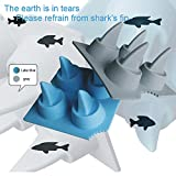 Litetao Clearance Shark Fin Ice Tray DIY Popsicle Ice Cream Mold, Stackable Miniature Ice Cube Tray for Mini Fridges, Dorm Freezers and Small Freezers, RV/Marine Freezers (Gray)