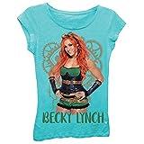 Freeze Becky Lynch WWE Girls Kids Blue T-Shirt (4)