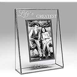 "J Devlin Pic 319 Clear Photo frame Engraved ""Life's Greatest Blessings"" Series (8x10 Vertical)"