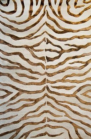 nuLOOM Brown Hand Tufted Plush Zebra Runner, 2' 3