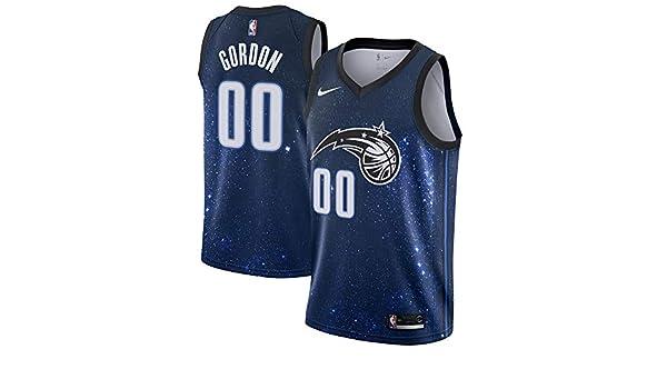 929da2b15e7 Amazon.com   Nike Aaron Gordon Orlando Magic City Edition Space Swingman  Jersey - Black   Blue (X-Large)   Clothing