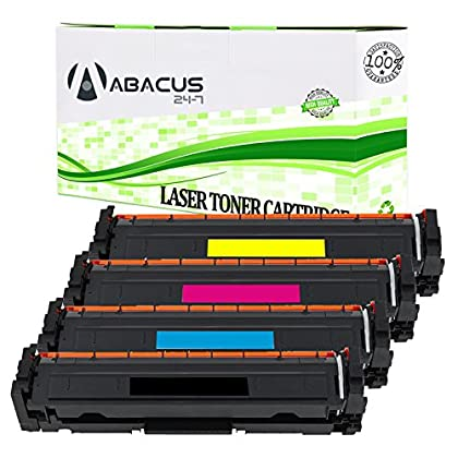 Image of Laser Printer Drums & Toner Abacus24-7 Compatible Toner Cartridge Replacement for HP 202A Toner Cartridges for HP Laserjet Pro MFP M281fdw, M254dw, M280nw Printers - 4 Pack
