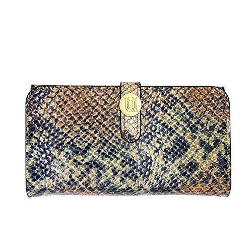 Uunique Luxe exotique serpent camel Folio portefeuille pour iPhone 6 Plus