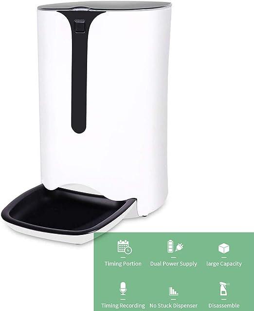 WXJHA Alimentador automático para Perros, dispensador de Alimentos ...
