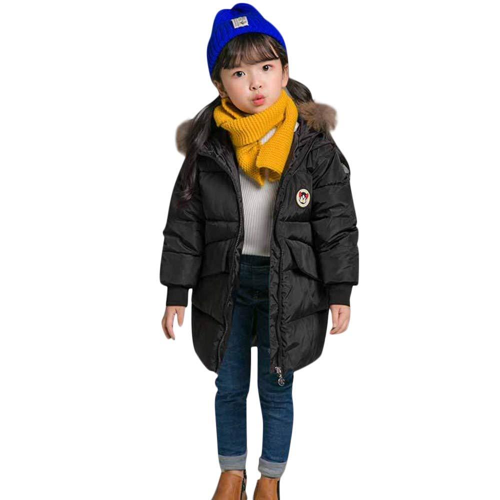 mamum Doudoune niña niño abrigo con acolchada niño capucha forro Otoño Invierno (3-4 Años) Negro: Amazon.es: Grandes electrodomésticos