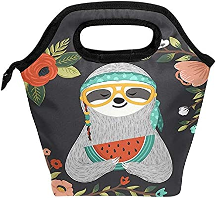 fcdc693a022e Amazon.com: Baby Sloth Eating Watermelon Animal Waterproof Reusable ...