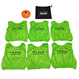 OlaKala Youth Training Vests Scrimmage Pinnies Soccer Cones Set with Carry Bag Kids Cones Pinnies,2 Inch Field Cone Markers for All Purpose