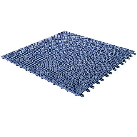 Baldosas flexibles de plástico, 55,5 x 55,5 cm, interior y exterior, de drenaje y jardín autobloqueantes piezas, turquesa: Amazon.es: Jardín