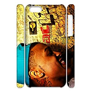 3D Print US Pop Singer&August Alsina Background Case Cover for iPhone 5C- Personalized Hard Cell Phone Back Protective Case Shell-Perfect as gift