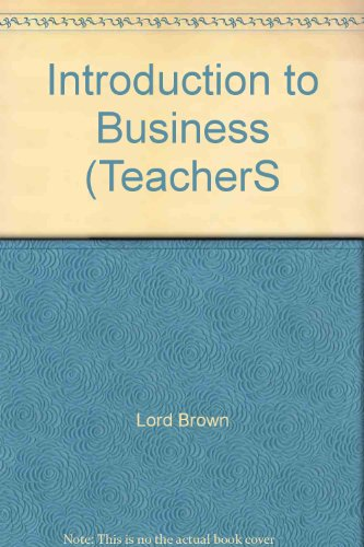 Introduction to Business (TeacherS