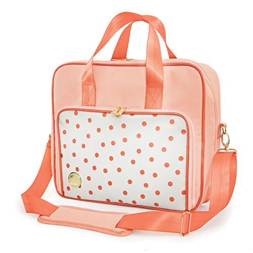 American Crafts We R Memory Keepers Shoulder Bags, Dot Blush