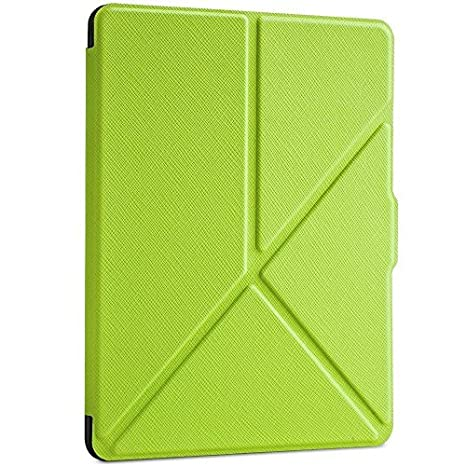 Ayotu Case for Kindle Paperwhite E-reader Auto Wake and Sleep Smart Protective Cover Folding Case, For 2014/2015 New Kindle Paperwhite 300 PPI Case Folding Series Stand Sleeve Protective K5-10 Green AY2017S1425
