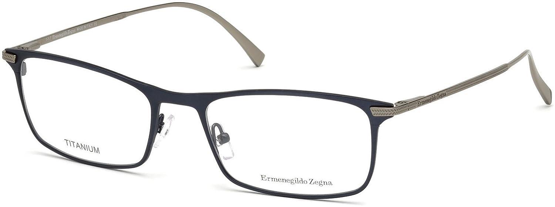 c93509bd84 Amazon.com  Eyeglasses Ermenegildo Zegna EZ 5110 091 matte blue  Clothing