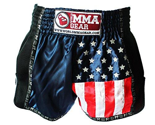 World MMA gear Premium Muay Thai Shorts by Handmade Retro - Kickboxing, MMA, Thai Boxing