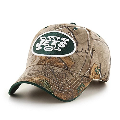 47 NFL New York Jets Frost MVP Camo Adjustable Hat, One Size Fits Most, Realtree Camouflage