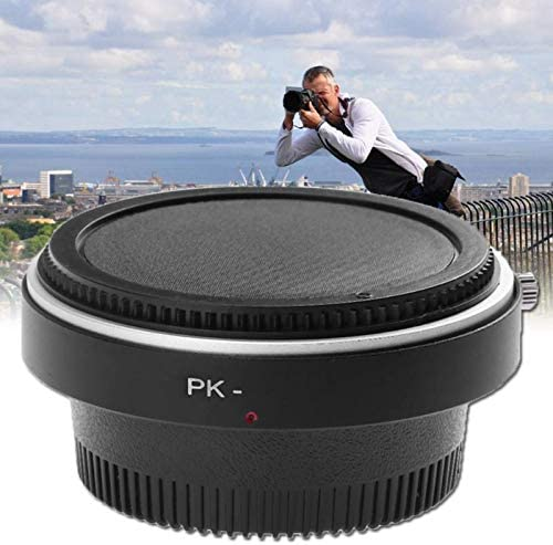 High Precision Lens Mount Adapter Ring with Front and Rear Lens Cover for Nikon Lens to K PK Mount Adapter with Glass Sala-Deco