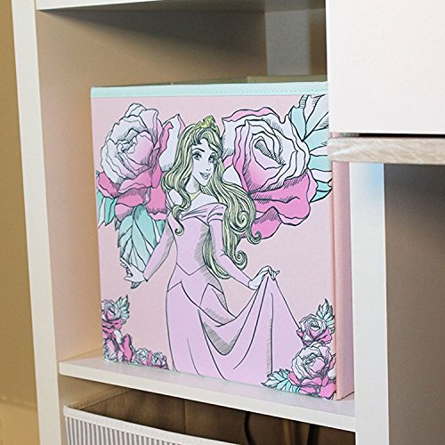 Sleeping Beauty Collapsible Storage Bin by Disney - Cube Organizer for Closet, Kids Bedroom Box, Nursery Chest - Foldable Home Decor Basket Container with Strong Handles and Design by Everything Mary (Image #7)