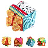 4EVERHOPE Baby Learn to Dress Educational Toy Toddler Early Learning Basic Life Skills Cloth Cube- Zip, Snap, Button, Buckle, Lace & Tie