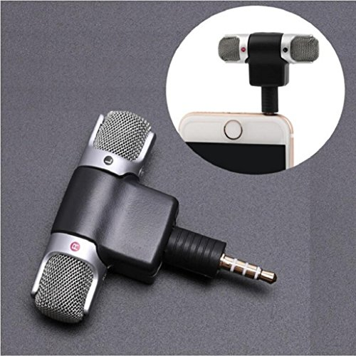 Professional Mini Recorder,Portable Stereo Voice Digital Mic Microphone for Smartphones PC,Tuscom (#2)
