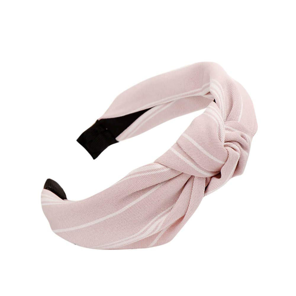 aliveGOT Headband For Women,Teens Daily Fashion Stylish Knot Turban Elegance Hairband Headwear Hair Holders Hair Clasp Head Wrap Accessory (Hot Pink)