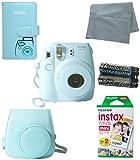 Fuji Instax Bundle Best Deals - Fujifilm Instax Mini 8 Instant Film Camera (Blue) 5 Pack Bundle