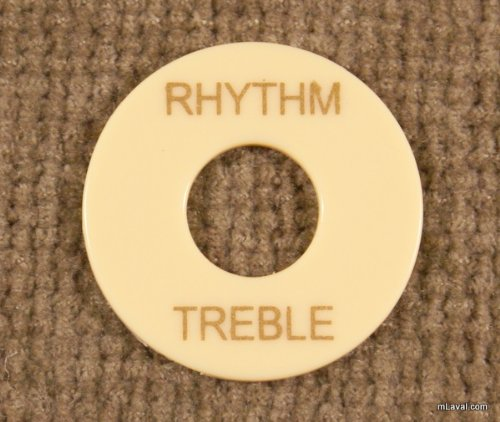 Toggle Switch washer Rhythm / Treble Ring Creme/Gold -NEW