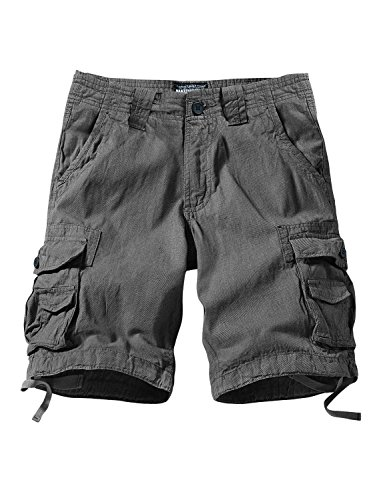 Match Men's Comfort Cargo Short (Label Size 2XL/36 (US 34), 3611 Black Gray)
