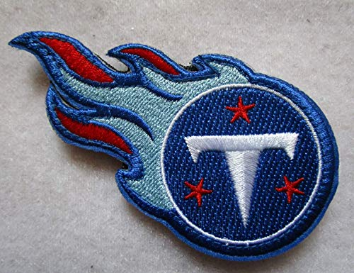 Embroidered 3 D Stickers - Tennessee Titans 3D Tactical Military Badges Embroidered Patch Back with Loops and Hook