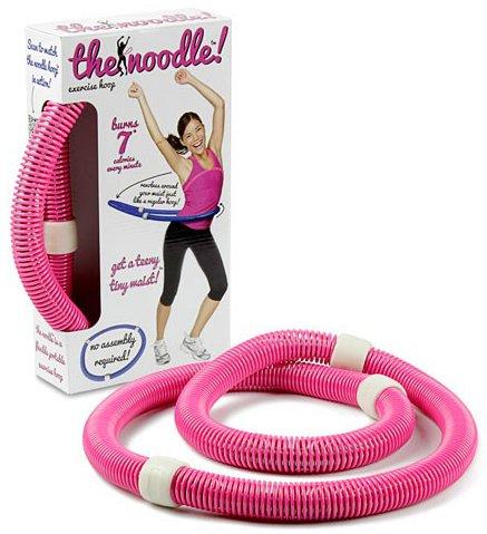 VIAHART Noodle Portable Flexible Exercise Spring Hula Hoop | Pink