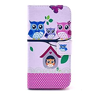 Queens Premium Slim Book Pu Leather Wallet TPU Case Flip Open Pocket Cover Built-in Credit Card/id Card Slot For LG G2 (Owl on the tree)